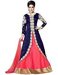 Sancom Blue Colored Raw Silk Party Wear Designer Salwar Kameez-SESFSK302031