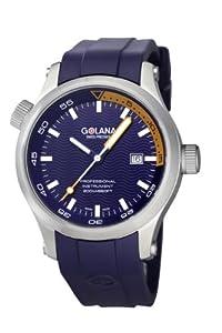 Golana Aqua Men's Quartz Watch with Blue Dial Analogue Display and Blue Rubber Strap AQ100-9