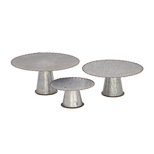 Deco 79 49192 Metal Galva Cake Stands (Set of 3), 9