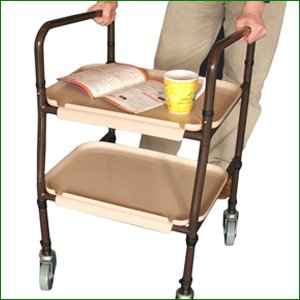Height Adjustable Kitchen or Household Stroller Trolley