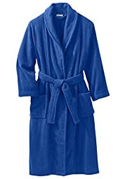 Terry Bathrobe With Pockets, Royal Blue Tall-2Xl/3X