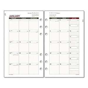 day runner express monthly planning pages