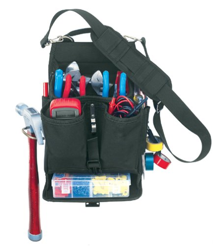 Custom LeatherCraft 1510 13 Pocket Electricians Tool Pouch with Plastic Tray