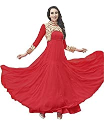 Karishma Kapoor Red Color Embroidery Anarkali Gown