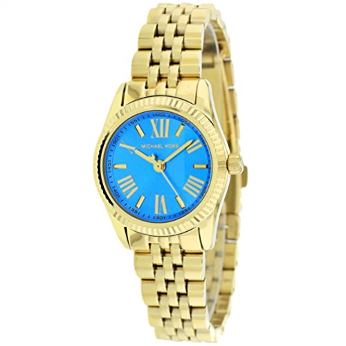 Michael Kors Lexington Ocean Blue Dial Gold-tone Ladies Watch MK3271 (Ladies Blue Dial Watch compare prices)