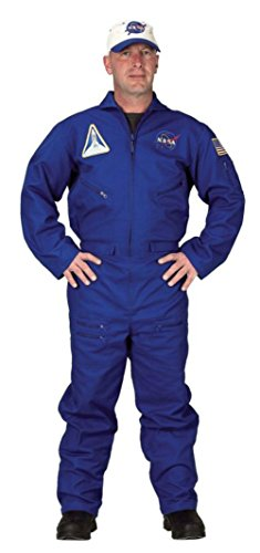 Aeromax Costumes Mens Space Flight Suit Astronaut Uniform Theme Party Dress