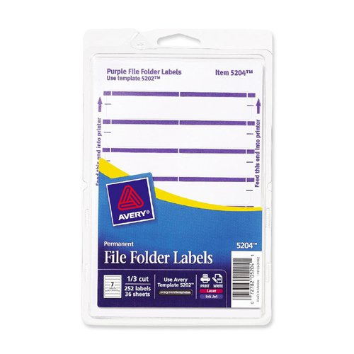 Avery Filing Label (FF3P) kitave11992unv10200 value kit avery index maker clear label contemporary color dividers ave11992 and universal small binder clips unv10200