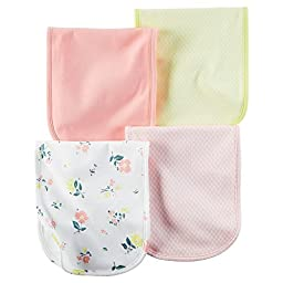 Carter\'s Baby Girls Burp Cloths 126g291, Assorted, One Size