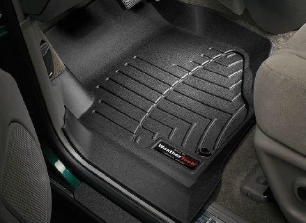 2002-2009 Chevrolet TrailBlazer Black WeatherTech Floor Liner (Full Set) (Weathertech 440071 compare prices)