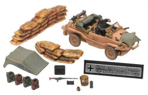 Buy Low Price Forces of Valor Unimax Forces of Valor 1:32 Scale German Schwimmwagen Type 166 – Normandy Figure (B0006N6J4C)