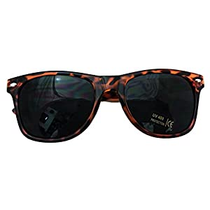 Shaderz Classic Tortoise Brown Retro 80's Wayfarer Sunglasses