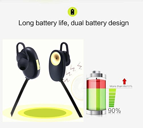 Bluetooth Headphones, Valworld Wirless Bluetooth  Earbuds/headset/earphone[running/sports/gym]&[sweat Proof/with Mic Noise  Cancelling Stereo]for Iphone