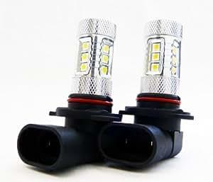 Genssi 2x 80W CREE White 9005 HB3 High Power LED 12V DRL Fog Light LED Lamp