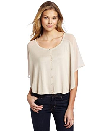 Design History Women's Round Neck Poncho Top, Linen, X-Small