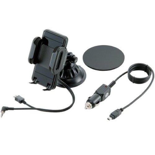 Logitec FMトランスミッター内蔵スマートフォンホルダー ブラック LAT-MPSH01 LAT-MPSH01