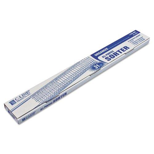 C-Line - Sorter, A-Z/1-31/Jan-Dec/Sun-Sat/0-30,000 Index, Letter Size, Plastic, Blue 30526 (Dmi Ea
