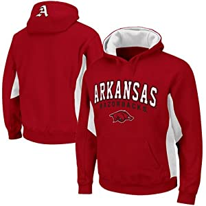 NCAA Arkansas Razorbacks Turf Fleece Pullover Hoodie - Cardinal by Colosseum
