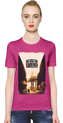 Once Upon A Time In America New York T-shirt donna Women T-Shirt Girl Ladies Stylish Fashion Fit Custom Apparel By Slick Stuff Large