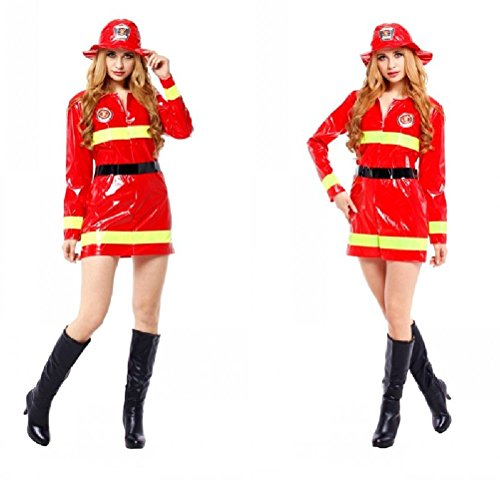 Ponce Halloween Cosplay Costumes Adult Female Models Firefighters