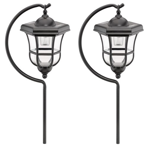 malibu outdoor one light solar powered carriage light