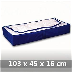 Relaxdays Under Bed Chest Storage Box Blue