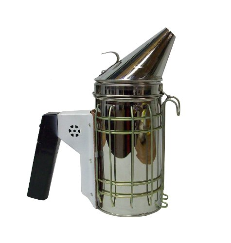New Electric Bee Hive Smoker Stainless Steel W/Heat Shield Beekeeping Equipment From Vivo