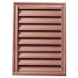 Fypon LV12X24S Decorative Stainable Vertical Louver, 12\