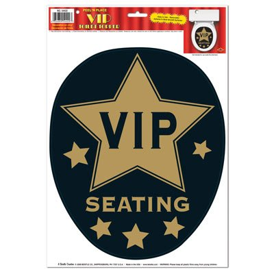 VIP Toilet Topper Peel 'N Place Party Accessory (1 count) (1/Sh)