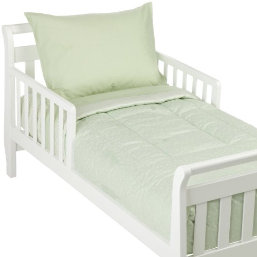 American Baby Company 1440 CE Percale Toddler Bed Set, 4-Piece (Celery)