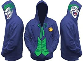 Joker DC Comics All Face View Zip up Hoodie