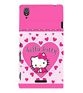 printtech Kitty Cute Back Case Cover for Sony Xperia T3