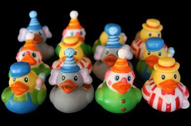 12 Circus Carnival Theme Rubber Ducky Party Favors - 1