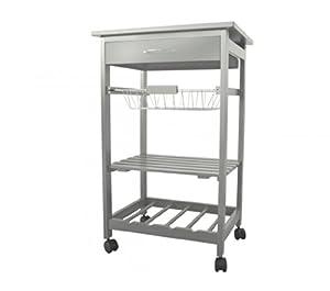 je cherche une id e kb5674 desserte de cuisine gris avec 1 tiroir 1 panier m tal 1 plateau. Black Bedroom Furniture Sets. Home Design Ideas