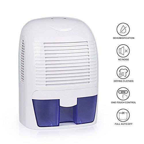 Dehumidifier, Aidodo Small Dehumidifiers for Home Basements Bedroom Bathroom Closet, Portable Mini Dehumidifier with 1.5 Liter Water Tank (Dehumidifier 12 Volt compare prices)