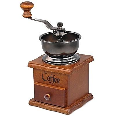 Beyondfashion Coffee Bean Spice Vintage Style Hand Grinder Wooden Kitchen Fresh from Beyondfashion