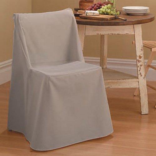 Cotton Duck Folding Chair Slipcover Color: Linen front-1031635