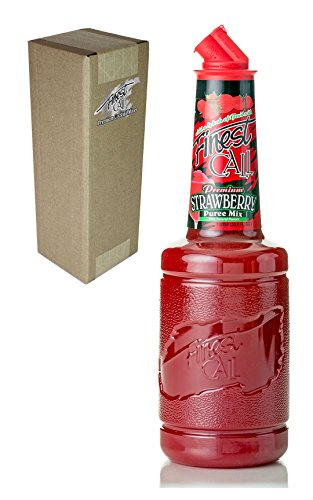 Finest Call Premium Strawberry Puree Drink Mix, 1 Liter Bottle (33.8 Fl Oz), Individually Boxed (Plastic Cocktail Mixer compare prices)