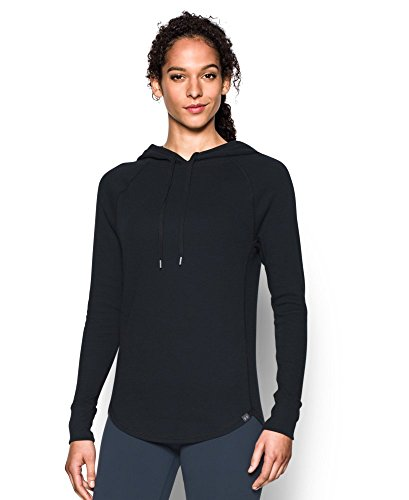 Under Armour Women's Waffle Hoodie, Black (001), Large