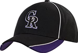 Colorado Rockies Black New Era 39THIRTY Batting Practice Flex Hat