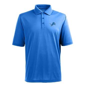 NFL Mens Detroit Lions Pique Xtra Lite Desert Dry Polo Shirt by Antigua