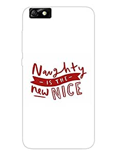 Naughty Is the New Nice - Hard Back Case Cover for Huawei Honar 4x - Superior Matte Finish - HD Printed Cases and Covers