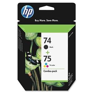 HP 74 & HP 75 (CC659FN#140) Tri-color Original Ink Cartridges, 2 pack