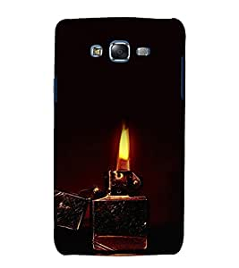 printtech Dark Lighter Flame Back Case Cover for Samsung Galaxy A3 /Samsung Galaxy A3 A300F