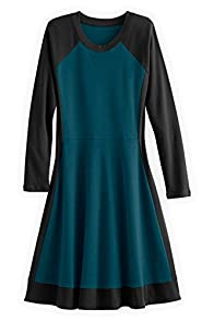 Fair Indigo Fair Trade Organic Colorblock Dress