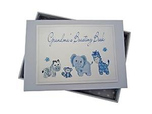 White Cotton Cards Grandma's Boasting Book Photo Album (Tiny, Blue) by white cotton cards