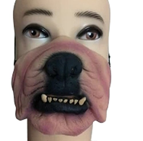 New Style Halloween Half Face Masks Popular Party Funny Latex Masks-Dog Face