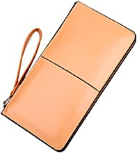 Bessky® New Retro Long Card Holder Purse Leather Stitching Lady Women Wallet
