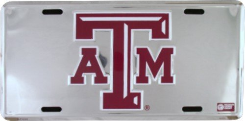 TEXAS A&M Super Stock Metal License Plate 6 x 12