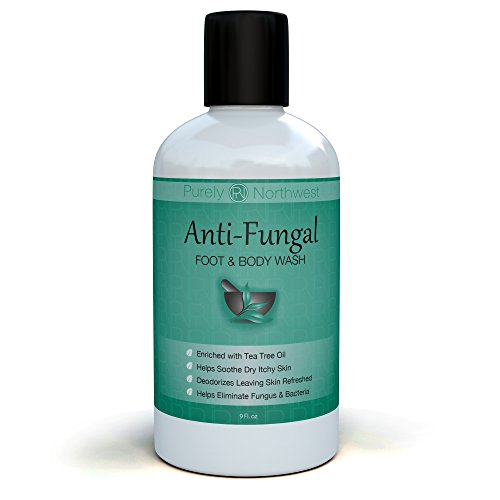 Antifungal Soap with Tea Tree Oil, Helps Treat & Wash Away Athletes Foot, Ringworm, Nail Fungus, Jock Itch, Body Odor & Acne. Antibacterial Defense Against Common Fungal and Bacteria Related Skin Irritations 9oz. (Foot Treatment Cream compare prices)