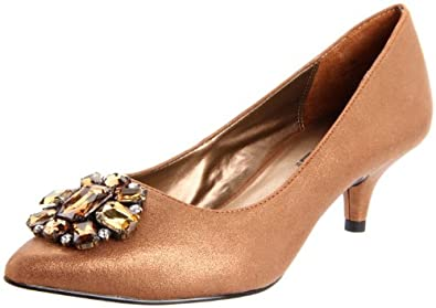 Moda Spana Women's Gabel Pump,Bronze Dusted Metallic,7.5 M US